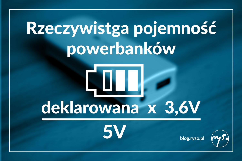 rzeczywista pojemność powerbanków