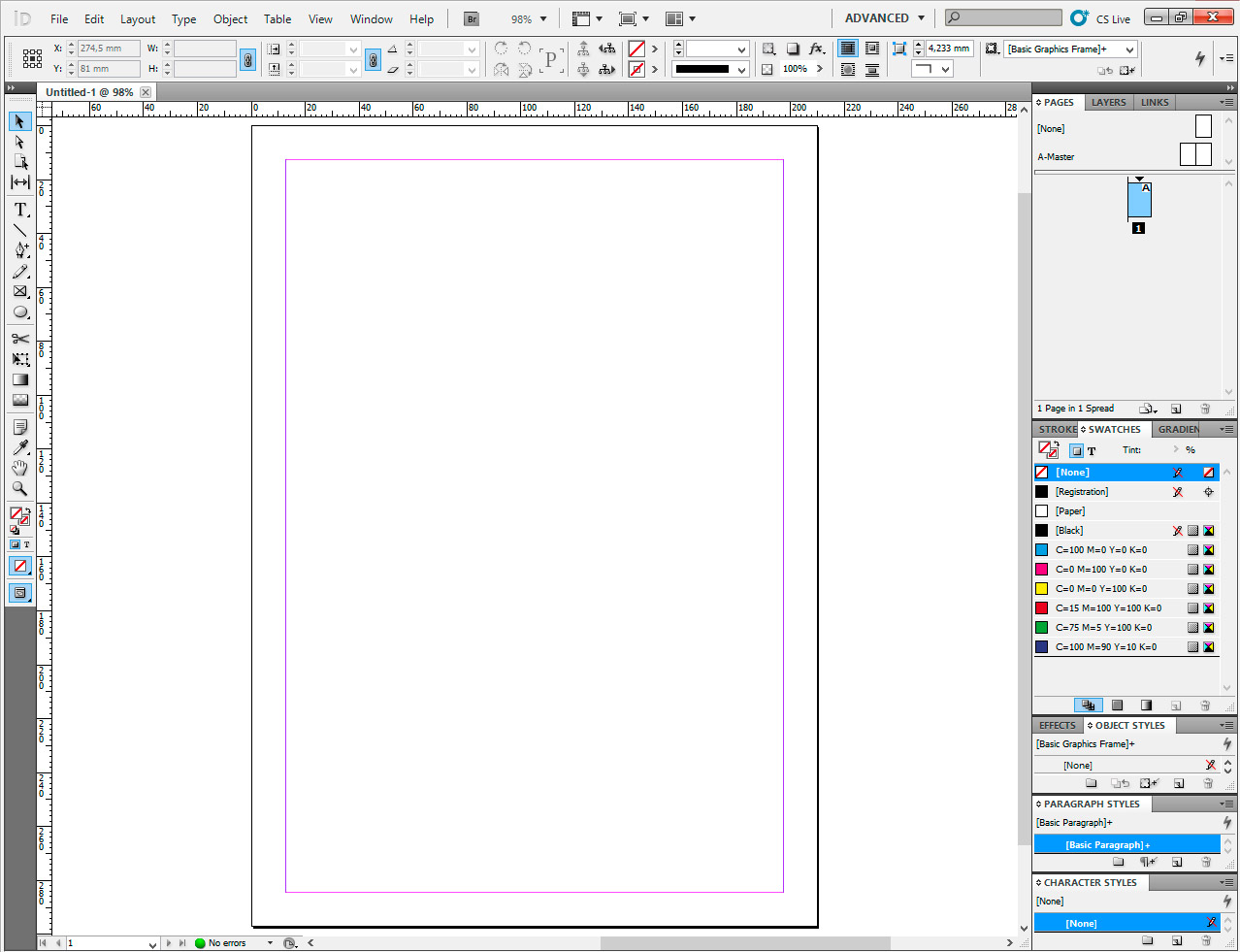 adobe indesign interface