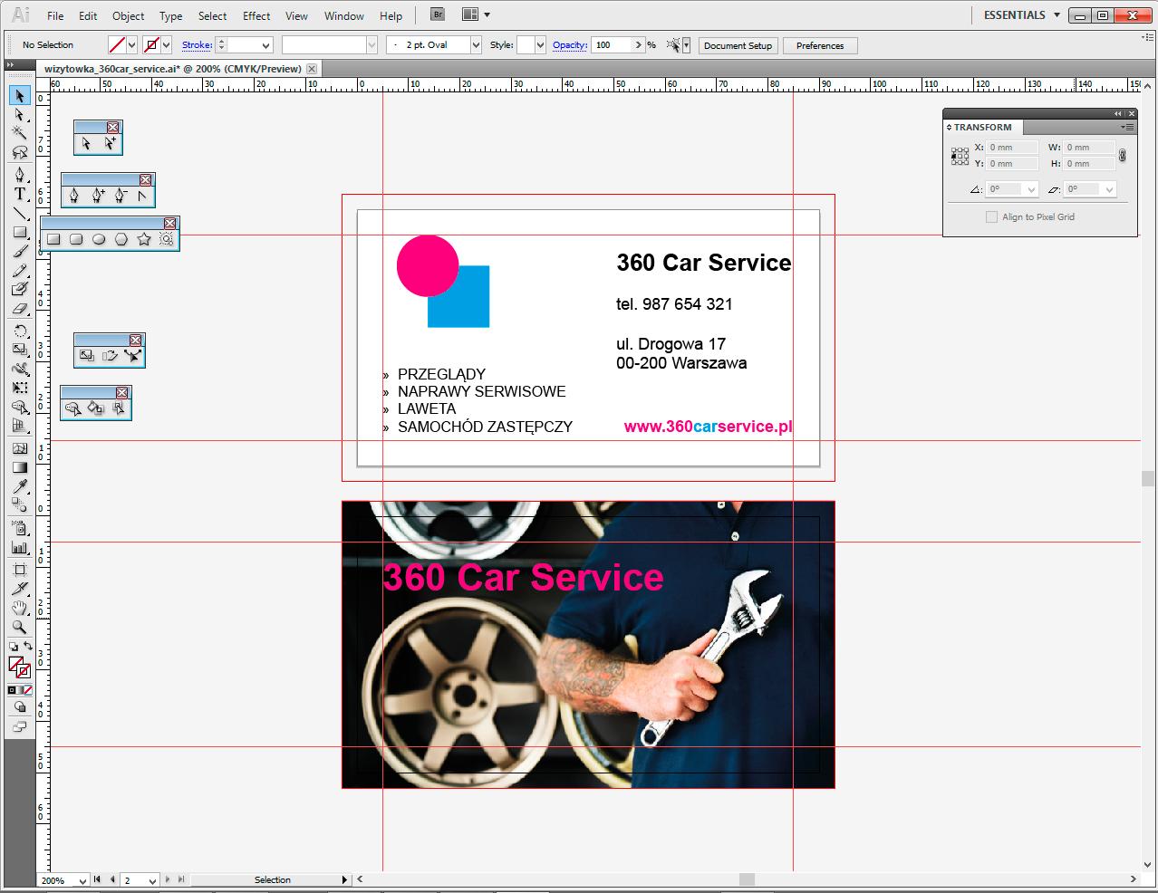 gotowy projekt wizytówki illustrator