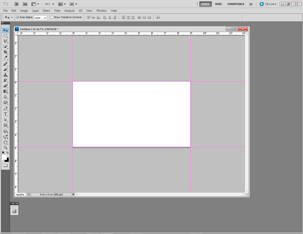 projekt wizytówki - pusty dokument photoshop
